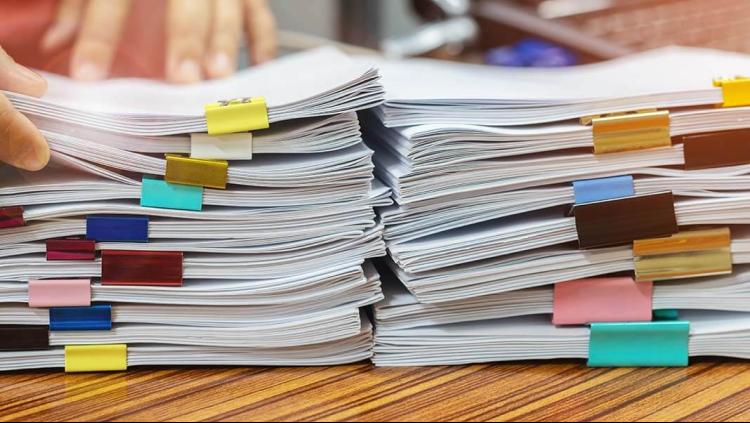 Heavy paperwork